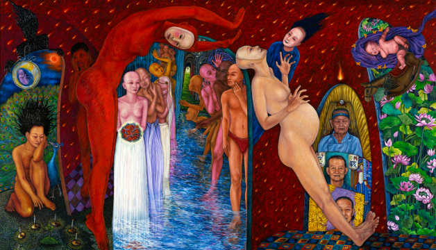 Origin of women, 2013, 243x140cm, arcylic on canvas