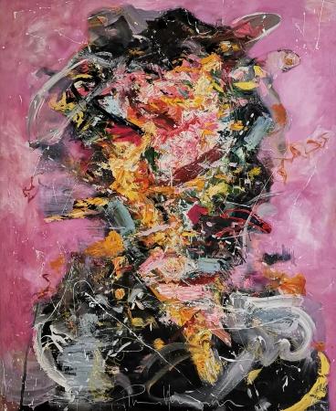 Putra Nazri, The Hidden Warrior, 2019, Oil On Canvas, 137x152cm, RM4,000.